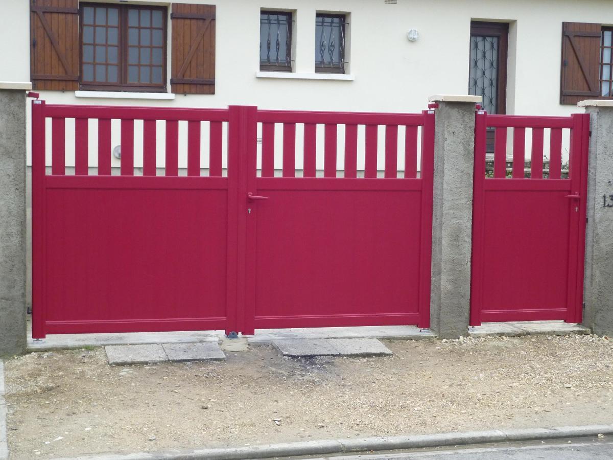Photo portail semi ajouré