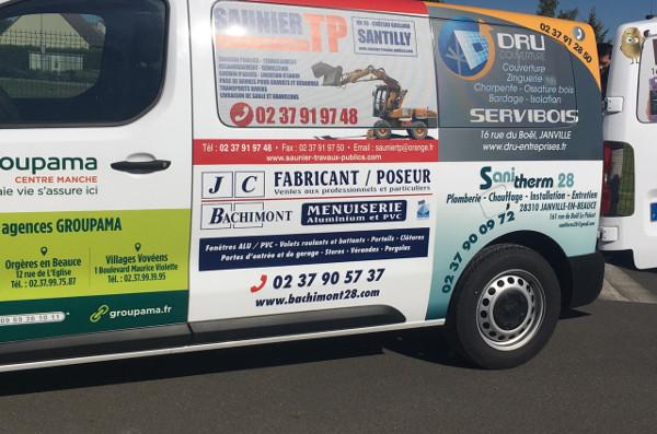 Publicité JC Bachimont camion